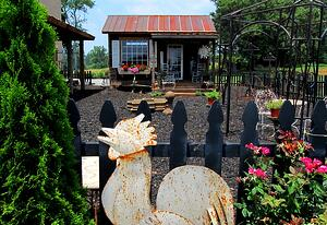 potting shed iron accents
