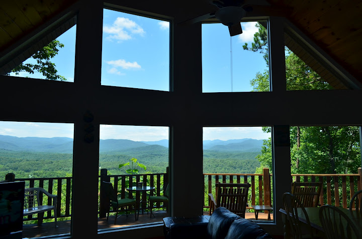 views cabins in north ga