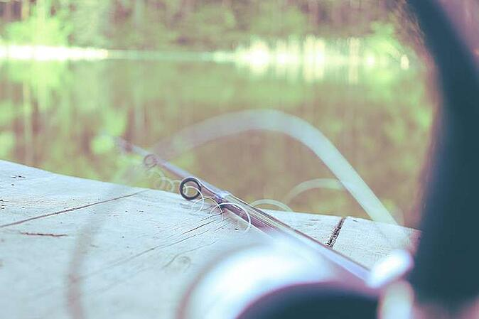 Fishing Pole On The Dock