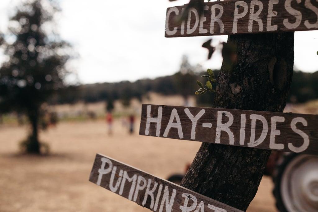 Signs, Cider Press, Hay-Ride, Pumpkin Patch