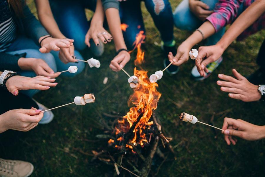 marshmallows-fire