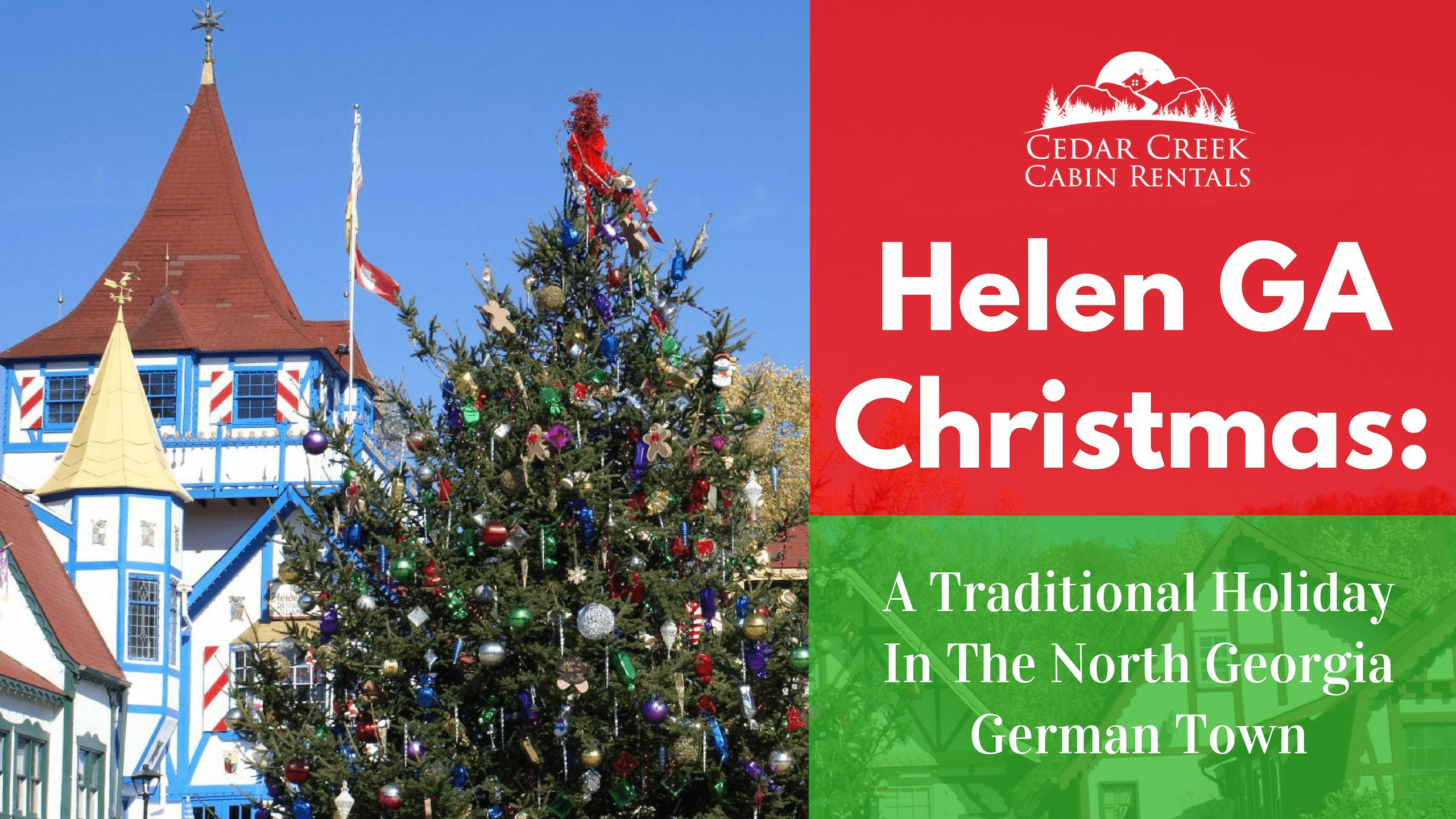 Christmas-Traditional-Holiday-Cedar-Creek-Cabin-Rentals-Helen-GA-Banner