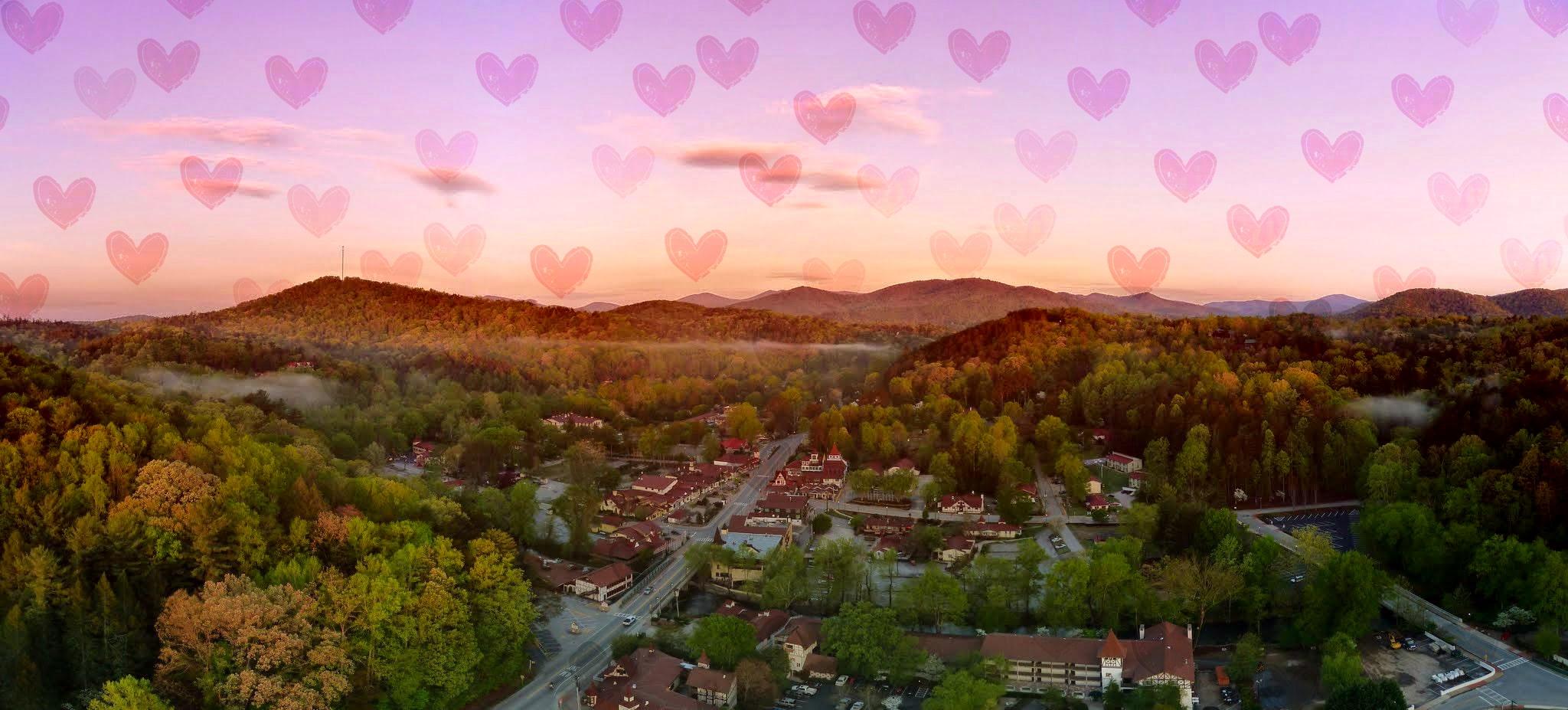 Valentine-banner-Cedar-Creek-Cabin-Rentals-Helen-Georgia-home-rose-hearts