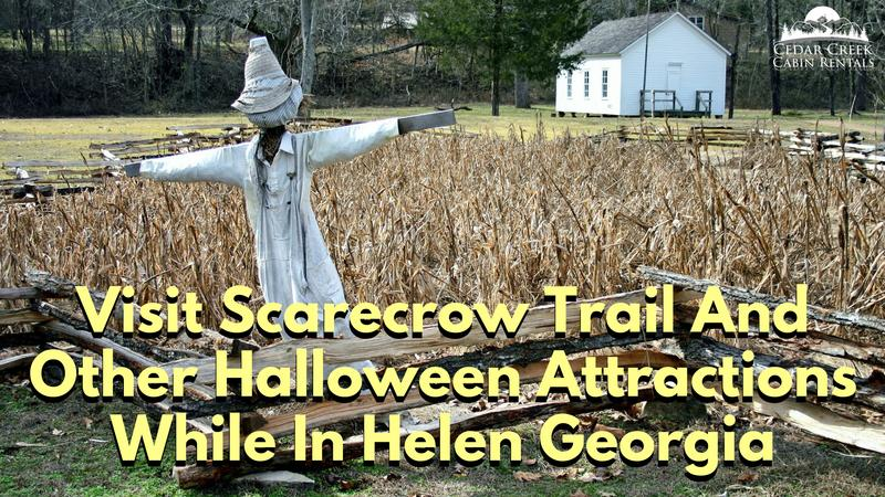 visit scarecrow trail and other halloween attractions while in helen
