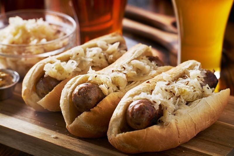 german-bratwursts-sauerkraut-beer