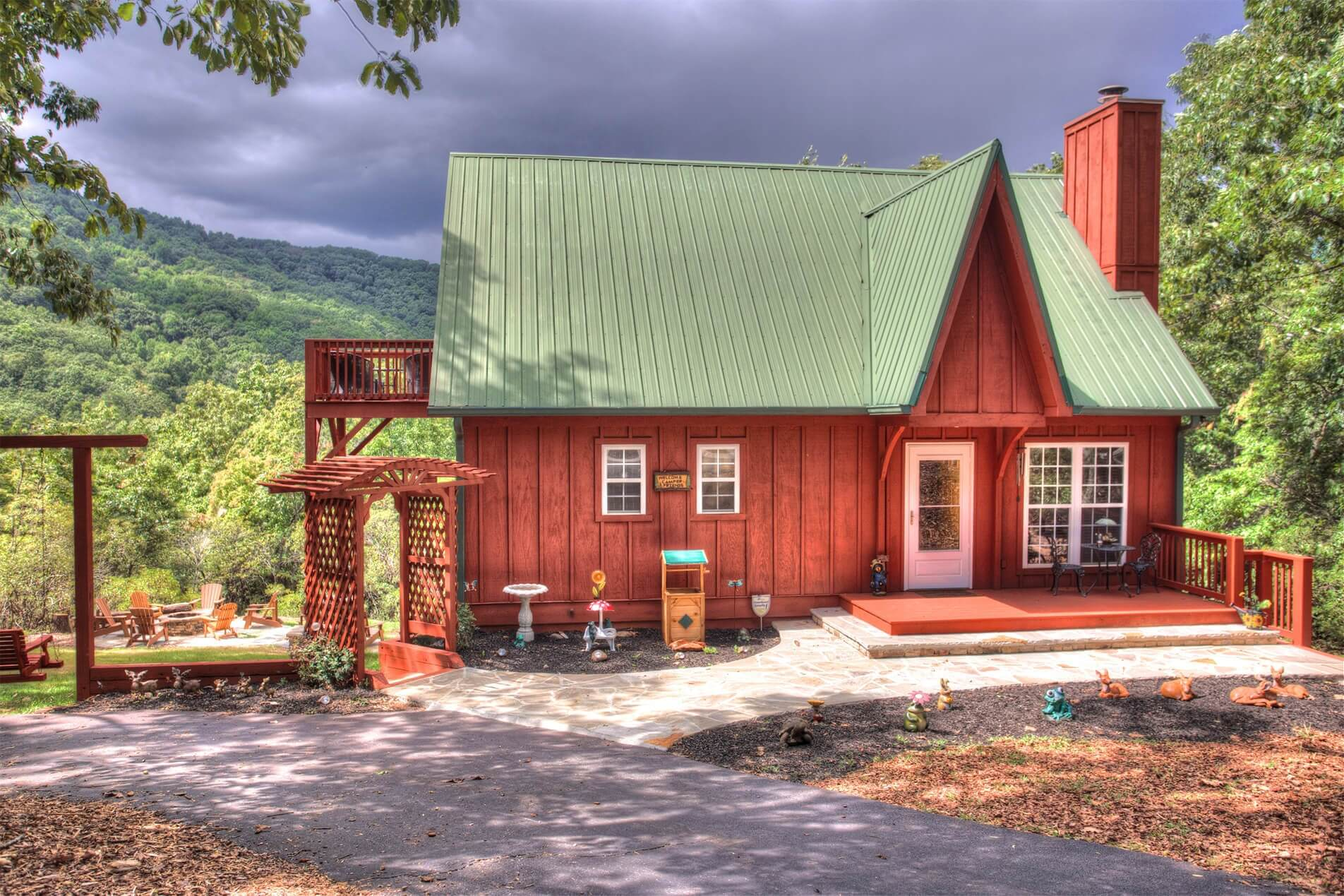 Gingerbread Haus Mt Yonah Pet Friendly Cabin Rental