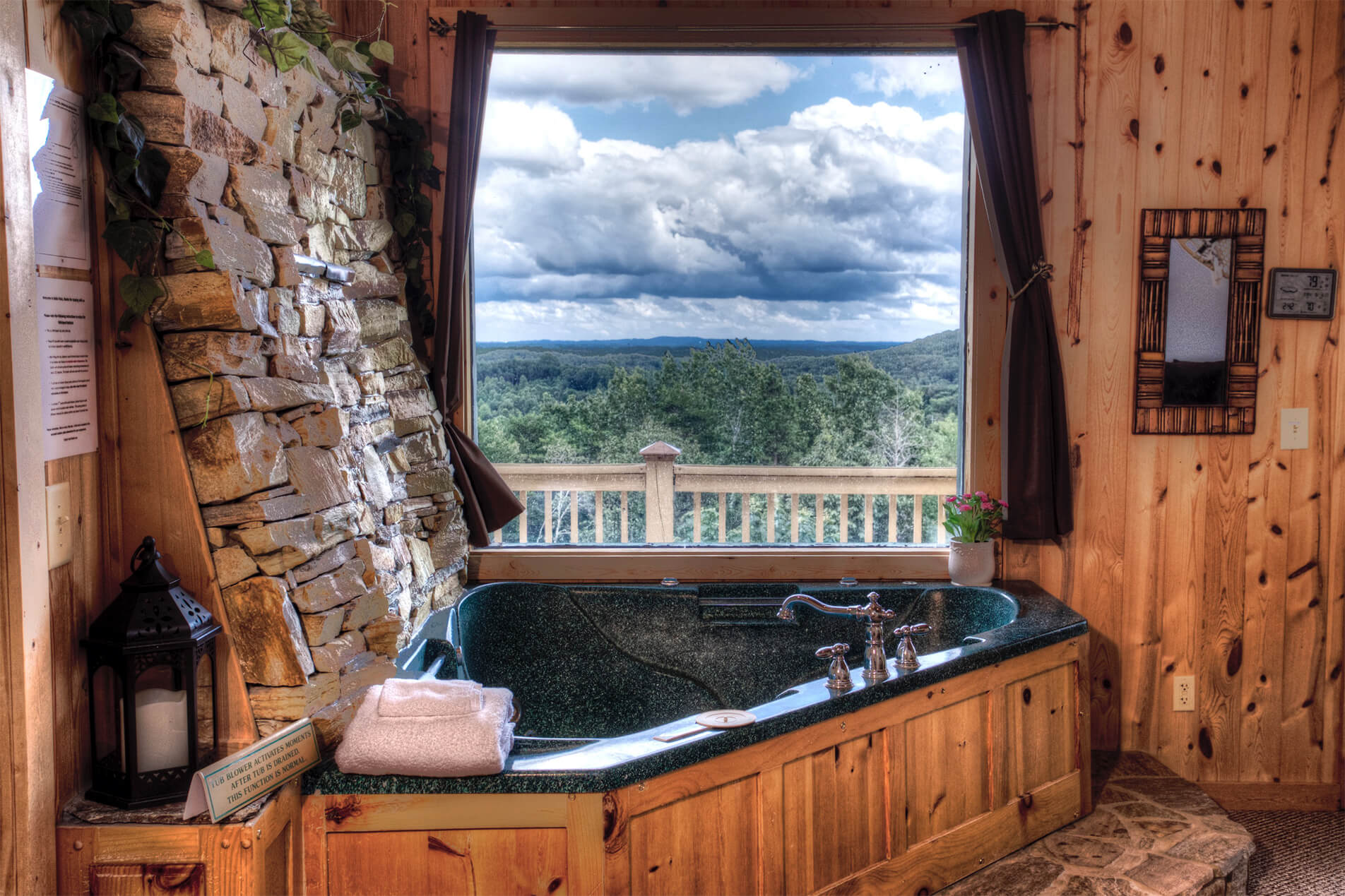 Bella Vista Window View Inside Cabin
